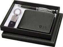 business genuine leather wallet Pen gift set