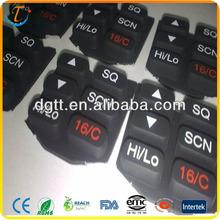 Molding conductive silicone keypad carbon pills