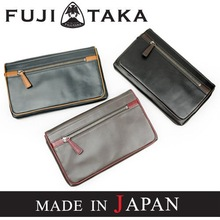 Luxury and stylish leather clutch bag for men made in Japan FUJITAKA (41211-e)/1