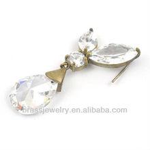 gold fashion earrings long tear drop earring