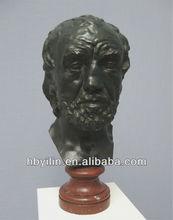 Famous Rodin's Man With A Broken Nose Bronze Sculpture