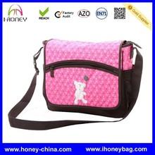 High Quality Stylish Cute Pink Long Strap cross body baby diaper bag
