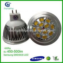 5630 SMD 5W Equal To 50W Halogen LED MR16 Spotlight