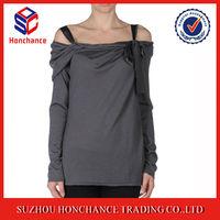 Women elegant grey off shoulder sweater and knitted sun-top women twin set