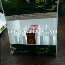 de plástico de acrílico del cigarrillo empujador de ventas de la pantalla
