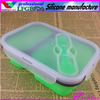 silicone collapsible lunch box with FDA,LFGB certification silicone lunch box