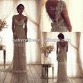 bo2212 venta al por mayor de alta calidad de china proveedor baratos cap manga clásica de cristal de encaje vestido de novia vestido de novia en dubai con el tren