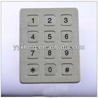 12 keys silicone numeric keypad ic for blackberry