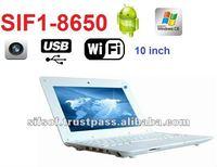 SIF1_8650 10'' mini Laptop Android 2.2 WiFi 2GB