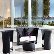 outdoor synthetic rattan sofa simple design garden sofa P-38#