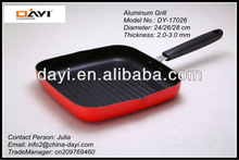Nonstick Aluminum Square Steak Pan/Fry Pan/Grill Pan
