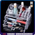 Venta al por mayor tsd-a915 caja de acrílico cosméticos/personalizada de vidrio orgánico de acrílico maquillaje caso/cajón de acrílico transparente caso