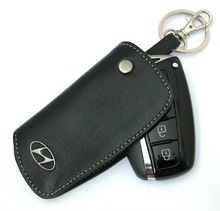 Smart Key Case Leather Case Holder Cover Wallet - HYUNDAI AZERA