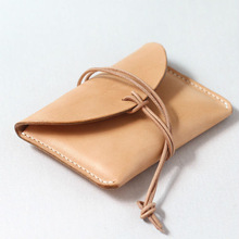 100% Hand-stitched wheat Vegetable Tanned Leather wallet case for ipad
