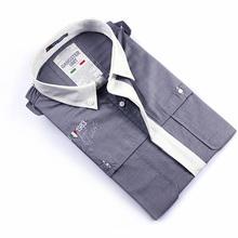 2015 new men formal solid color short sleeve shirt