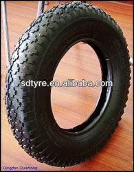 qingdao wheelbarrow tyre with diamond pattern 350-8