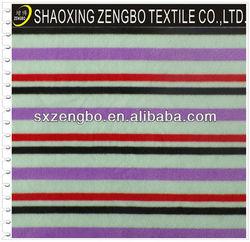 100 polyester Stripe Printed polar fleece fabric to pakistan