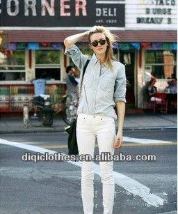 guangzhou diqi clothes long sleeves shirt for lady