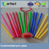 Rigid Extruded Colorful PVC Pipe for Arts and crafts assembly