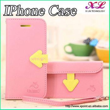 Pu phone case+TPU back cover case for iphone 4/4s case