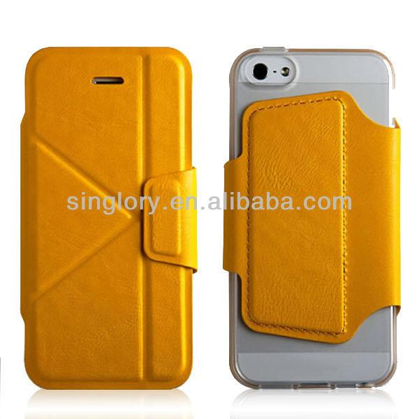 احدث الهواتف النقالة التصميم حقيبة جلد لآيفون الحالات 5s