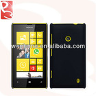 Solid Black Lumia 520 Hybrid Hard Case for Nokia Rubberized Cover