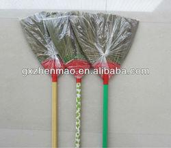 corn broom wooden handle wth pvc cover