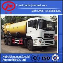 Dongfeng DFL Tianlong Tianjin double bridge Suction sewage dump tipper vacuum truck (JDF5250GXWDFL 6x4 16CBM 18CBM 20CBM truck)