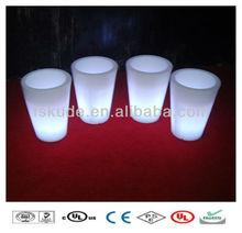 Color Changeable Plastic led flower vase light led lighted planter pots