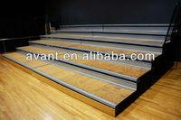 indoor stadium retractable tiered seating,arena retractable grandstand,retractable gymnasium seating for sport