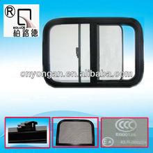 aluminum frame side sliding caravan window