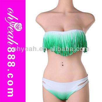 Fast delivery in stock sexy lady fringe tassel bikini