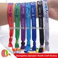 single personalizado tecido tecido braço bandas pulseira para eventos