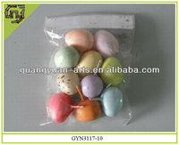 2014 decorative plastic handmade easter eggs