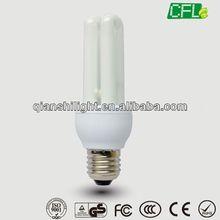 China 100% tri-color 8000h 6000h high quality hangzhou 2U 7W torch energy saving bulbs with CE EMC RoHS GS
