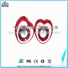 Red heart shape gadget charming ABS speaker