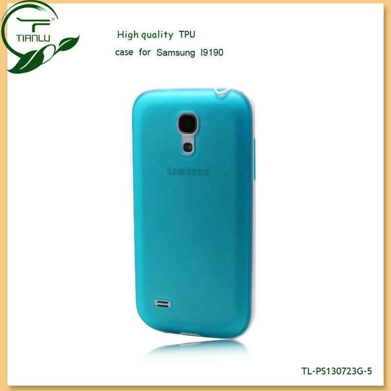 Transparent Soft TPU case For samsung s4 mini I9190,stylish tpu cell phone case for samsung s4 mini
