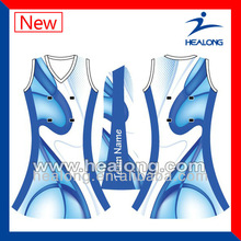 New Design Sublimation Lycra Netball Uniform
