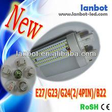 5630 g24 2/4pin 6w led lamp 143mm PL lamp