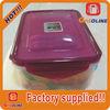 Plastic storage box transparent plastic container with lid