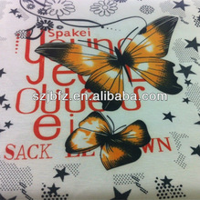 2013 butterfly cotton printed fabric for wholesale