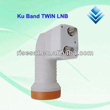 Low Noise KU BAND TWIN LNBF, Universal HD dual LNBF lowest factory price