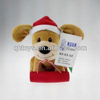 custom moving toy dog,cute plush dog toy for baby,christmas singing dog toys
