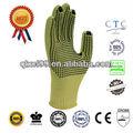 Ql no- deslizamiento de pvc de kevlar guantes de la mano en388 corte guantes resistentes