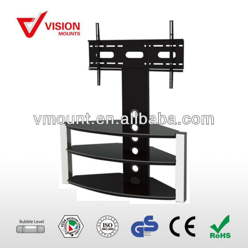 Moderne salon lcd plasma tv mural de plateau vm st11 b 02 - Support tv avec tablette ...
