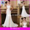 GW173 Sexy Lace Strapless Sleeveless Gold Waist Band lace bridal purple and white wedding dress