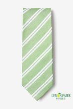 Lime Green Silk Stripe Necktie