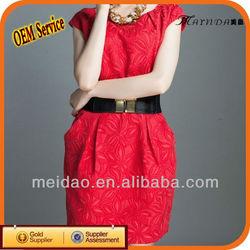 Hot Design Cheap Lady Red Women New Fashion Dress 2013