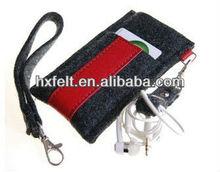 Business felt phone bag with bobbin winder