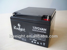 12V24AH Great resist vibration performance sealed gel battery for UPS system